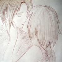 Sakura and Sasuke kissing