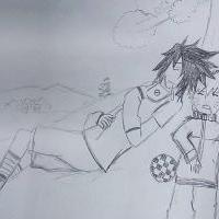 Naruto a Sasuke pri menšom odpočinku