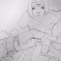 chuuninská skúška - Naruto vs Sasuke