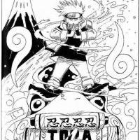 Manga 6-Naruto a Gamabunta