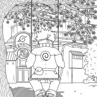 Naruto - antistresová omalovánka