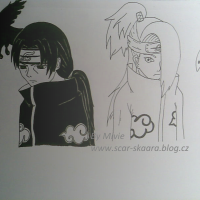 Black and White/ Deidara a Itachi