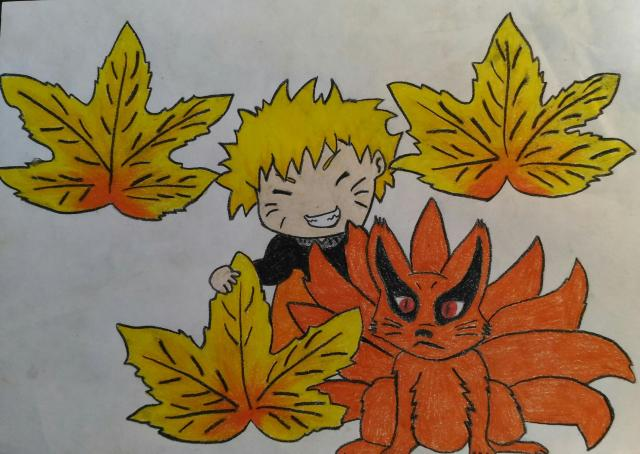 1 - Jesenný Naruto a Kurama