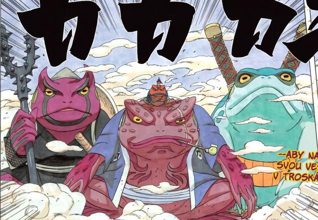 Gamaken, Gamabunta, Gamahiro, Gamakichi, Pa a Ma + Naruto