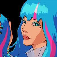 Ada si hraje se svými velmi zvláštními vlasy