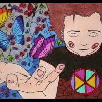 ...Ač má jenom sílu motýlí (vybarveno)