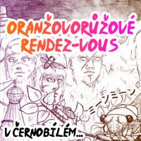 Oranžovorůžové rendez-vous v černobílém