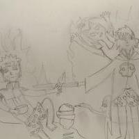 """Priateľstvo Naruta- inšpirované Michelangelovím dielom ,,Stvorenie Adama"""""""