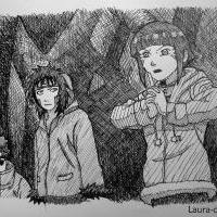 *Hinata, Kiba a Shino*