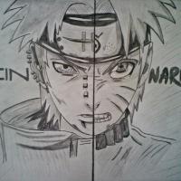 !Pein and Naruto (faces) FA