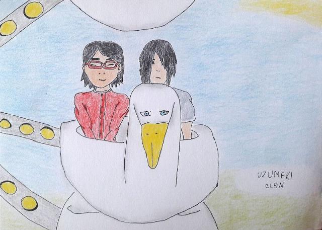 Sarada a Sasuke na kolotočoch alias Čo by Sasuke neurobil pre svoju dcéru