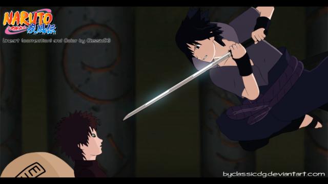gaara vs sasuke shippuden konohacz