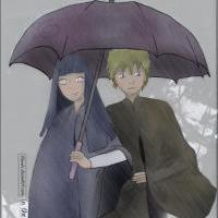 .:NaruHina: In The Rain:. by Thinnka